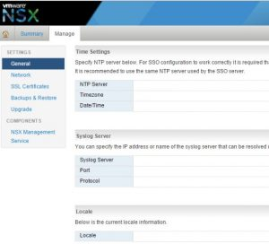 Manage NSX Manager