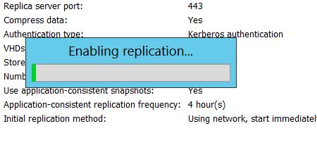 Enable Virtual Machine replication in Hyper-V (Microsoft Server 2012)
