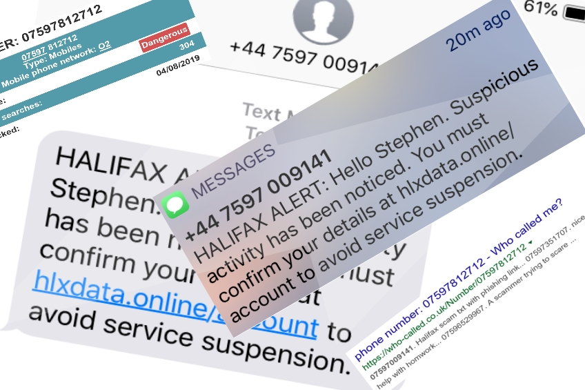 Phishing TEXT Scams